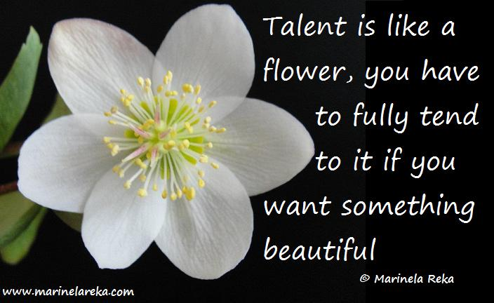Talent is like a flower short poems and quotes marinela reka talent is like a flower mightylinksfo