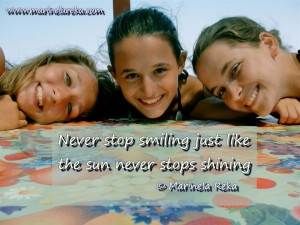 Positive quote about smile