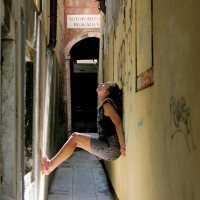 short poems and quotes by marinela reka as she looks up the ceiling in Venice.