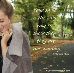 quote about smile, marinela reka