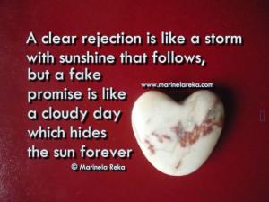 rejection, matinela reka