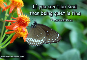 Quote about being quiet, marinela reka